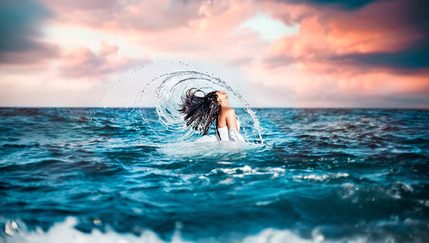 Los beneficios del agua de mar para el cabello